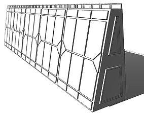 Futuristic Modular Wall Muralla Modular futurista 3D asset
