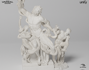 3D asset Laocoon and His Sons Sculpture VR AR Mobile-ready