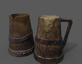 Medieval Style Beer Mug 3D asset