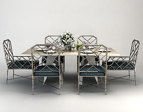 table FOLD RECTANGLE DINING TABLE Baker 3D