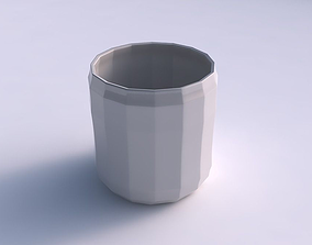 3D print model Bowl cylindrical with curved creases