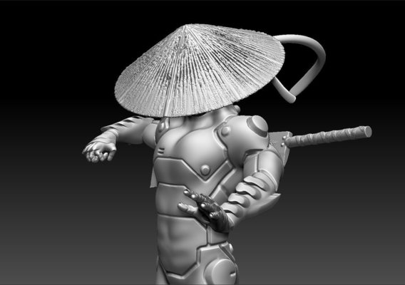 Cybernetic Monk Printable Model