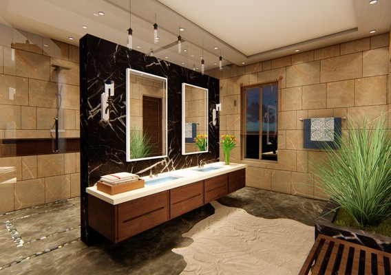 bath modeling design and rendering in lumion 9