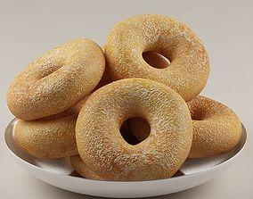 Donuts rolls 01 3D model