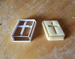Bible cookie cutter 3D printable model