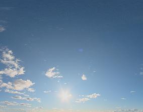 3D model Skydome HDRI - Sunset Clouds VI