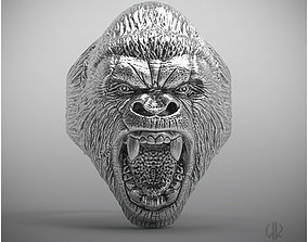 Ring gorilla growls 3D printable model