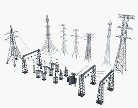 other 3D Collection of Electric Towers