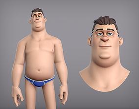 Cartoon male character Eugene base mesh 3D model