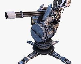 Turret Gun Optimized 3D model realtime