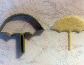 3D print model Umbrella cookie cutter