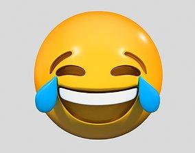 Emoji Face with Tears of Joy 3D model