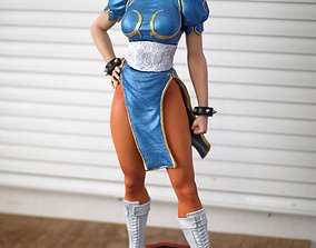 Chun Li Street Fighter Fan-art Statue 3D print model