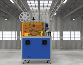 Double station rotary labeling machine 3D