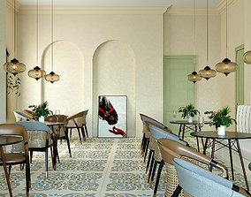 3D model Old Style Arabian Cafe