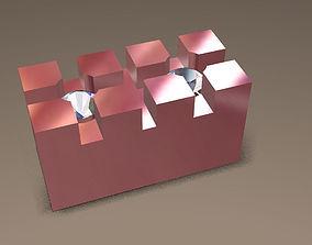 Square double bezel for 1mm gems 3D printable model