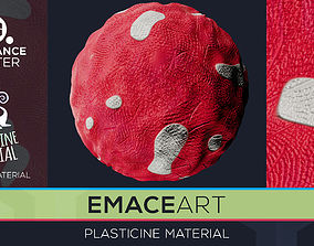 PBR Plasticine Material 10 Substance Unity Material 3D