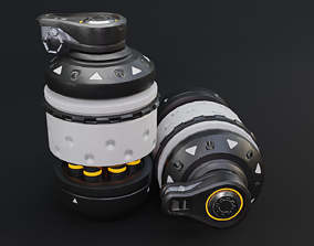 Sci - fi Bomb Game Ready Low Poly 3D Model realtime