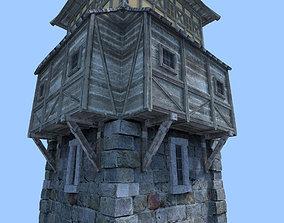 tower 3D model archer
