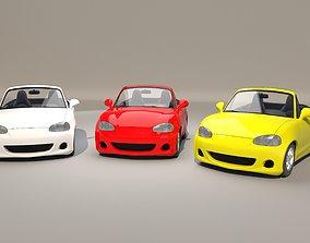 3D model Car cartoon 01 - rig