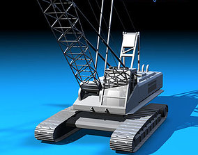 Crane with dipper bucket 3D