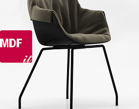 MDF Italia FLOW SLIM ARMCHAIR 3D model