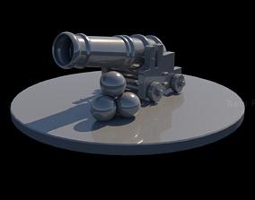 3D model Cannon war machine - Vintage