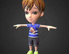 3D asset Cute Boy