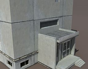 Residential Building 3D model game-ready