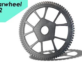 3D asset PBR gearwheel0002