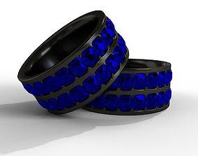 3D asset realtime Blue Sapphire Ring