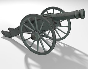 military Old Cannon 3D