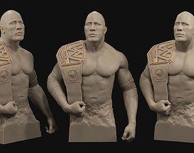 printing Dwayne The Rock Johnson 3D print model