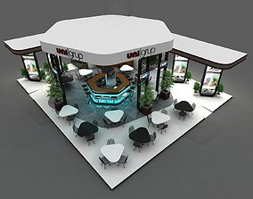 3D Exhibition Stall Size 14 m x 12 m Height 500 cm