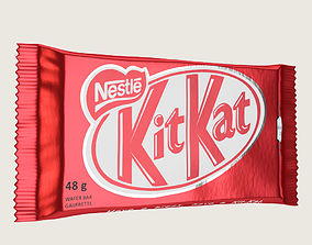 Kitkat Kit Kat Chocolate Bar 3D model