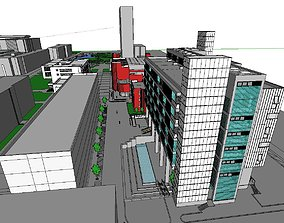 Office-Teaching Building-Canteen 31 3D model