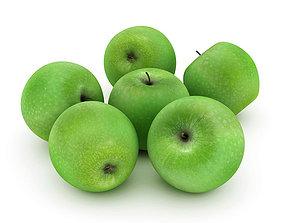 3D Green apples