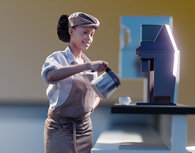 3D model Monika 10132 - Standing Coffee Shop Woman