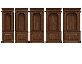3D model Wood panel niche 019