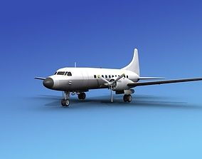 3D model Convair CV-340 Unmarked 1