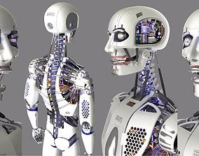 3D print model High-tech artificial intelligence Robot Man