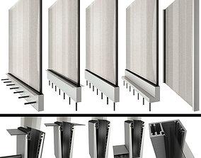 3D Glass railing handrails