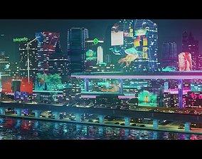 Futuristic City - EEVEE Blender Cyberpunk 3D