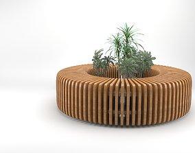 3D model Elegant Parametric wooden bench