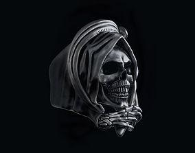 Grim Reaper Skull ring 3D printable model