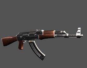 3D model AK47 game ready low poly