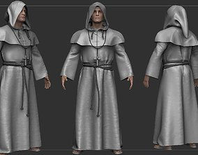 Monk High-Poly 3D model