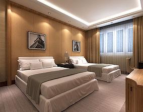 3D Hotel Room Scene 01