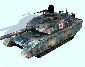 3D asset Japanese Type 10 Main battle tank