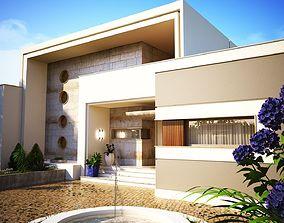 3D Modern house model building